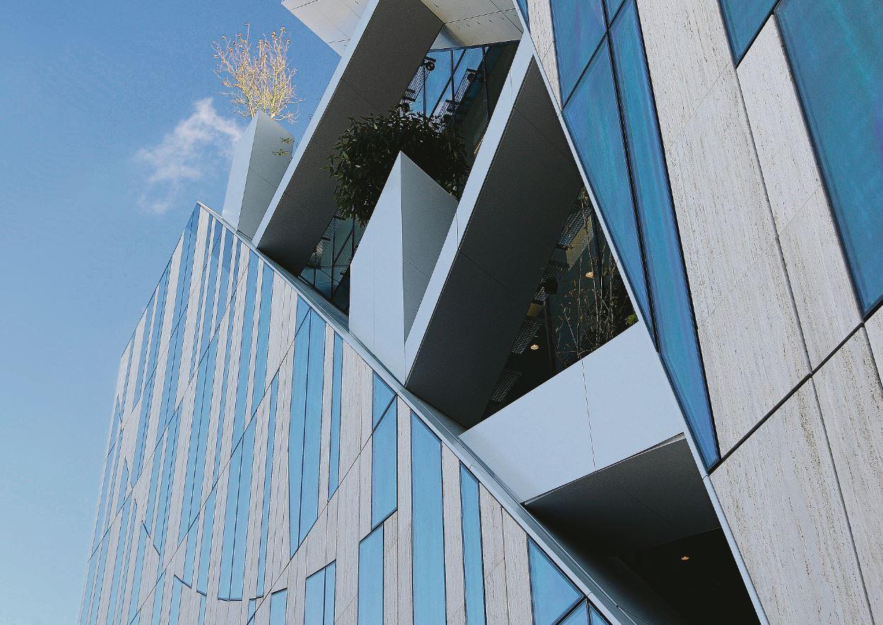 Eine moderne Hausfassade