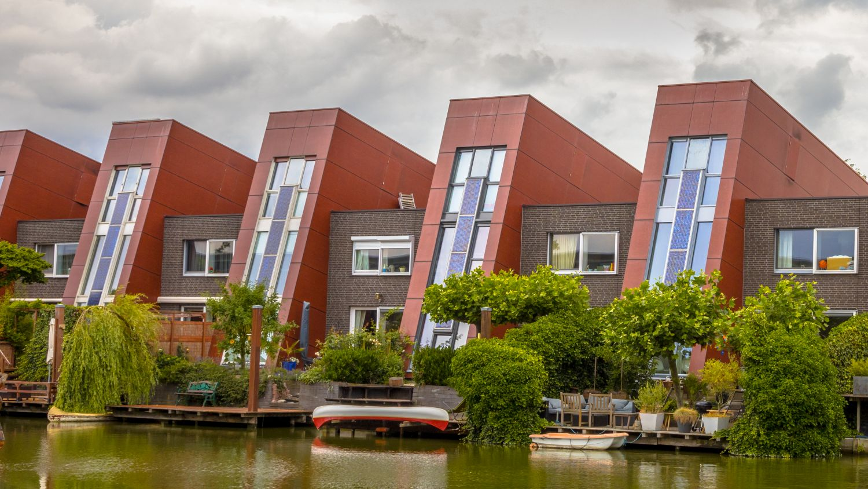 Energieeffiziente Häuserreihe