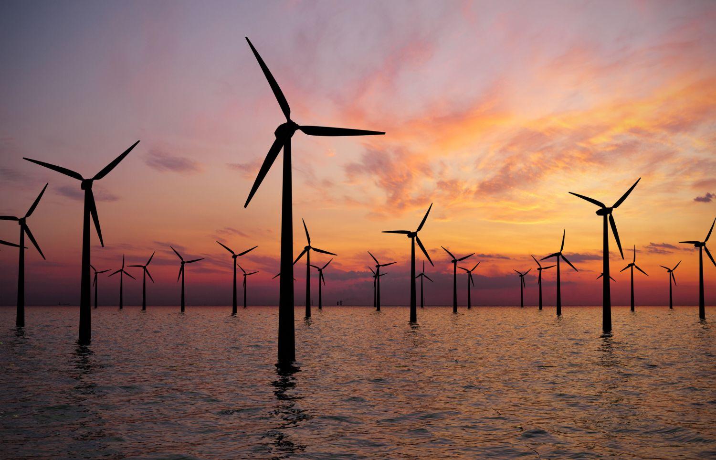 Windräder im Wasser