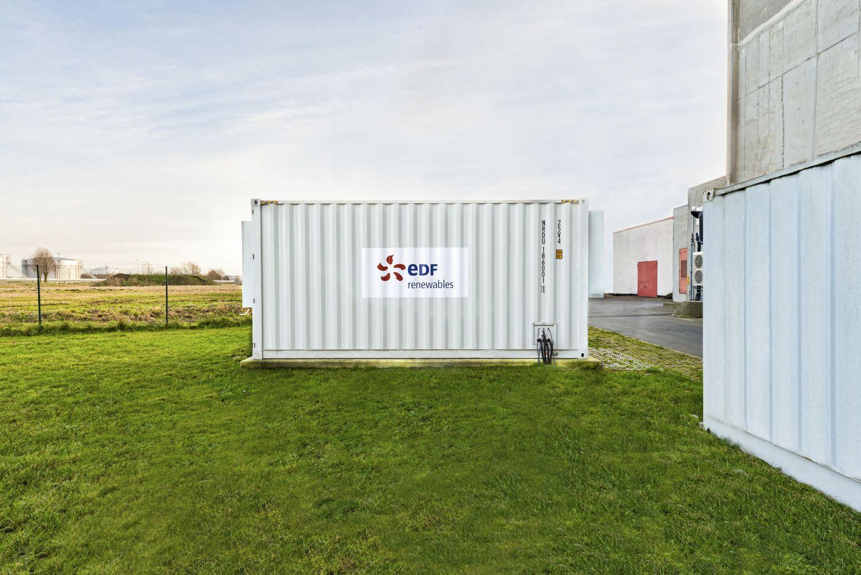 Ein Container mit Batteriespeicher von EDF renewables