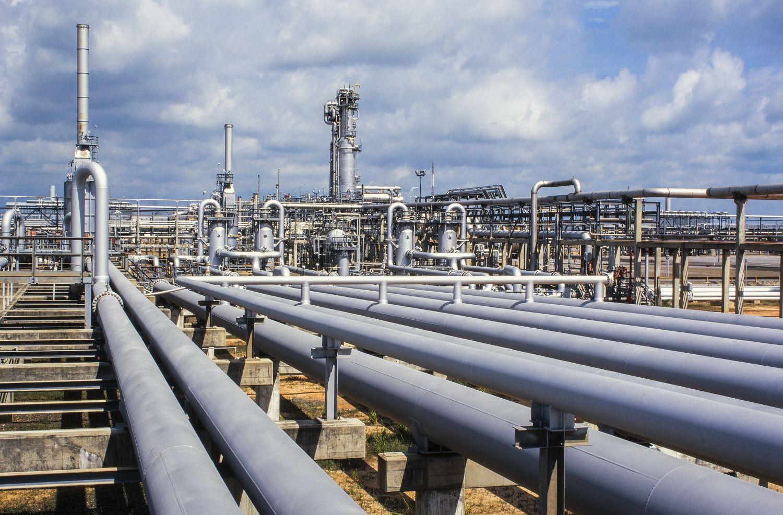 Eine Erdgasanlage